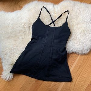 Lululemon 💕Strappy Black Luon Stretch Tank 4